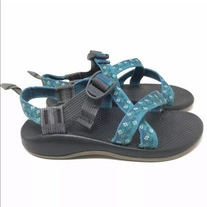Chaco Youth Girls Size 3 Turquoise Sandals Shoes